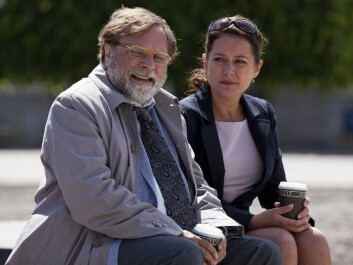 Bent Sejrø (Lars Knutzon) and Birgitte Nyborg (Sidse Babett Knudsen) in a classic scene at their regular meeting place in 'Borgen' (Photo: Mike Kollöffel/DR)