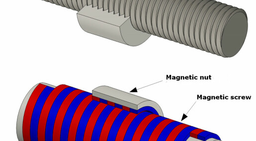 Magnetic screw helps capture energy from waves