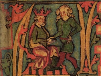 The Vikings typically lived to be around 40-50 years old. But there are also examples of upper class Vikings who lived longer – for instance Harald Fairhair, who was King of Norway for more than 60 years. (Picture of King Harald from the 14th century Icelandic manuscript Flateyjarbók.)