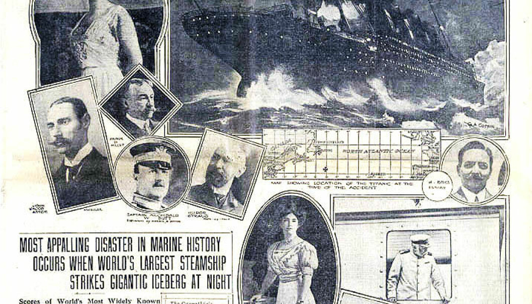 When the Titanic sank in 1912, women and children were allowed first on board the lifeboats. It's one of very few instances in history where this chivalrous maritime norm was actually practiced. (Photo: Wikimedia Creative Commons)