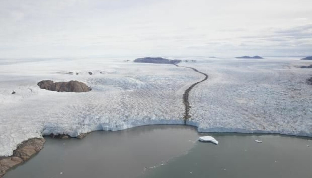 Aerial photos from the 1980s and 1990s show that Greenland has lost large quantities of ice before, but also that the ice-mass loss ceased later on. New research questions the precision of existing climate models. (Photo: Niels Korsgaard, Natural History Museum of Denmark)