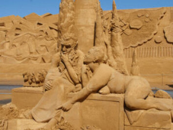 You're not limited to building castles when you're playing with sand. The picture was taken at the sand sculpture festival in the Danish town of Søndervig earlier this year. (Photo: Steen Holm)