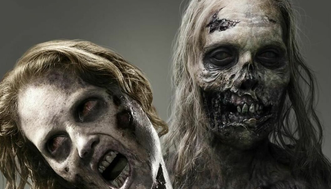 The new popular TV series share the common characteristics of having relatively modest ratings and very narrow target audiences. The picture above shows two of the zombie-types with a taste for human flesh that the characters in the AMC series The Walking Dead risk running into. (Photo: kileyblaqkyear)