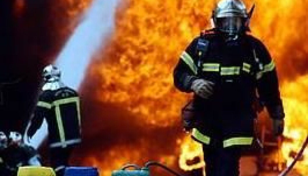 """It might look dangerous to an outsider, but according to firefighters interviewed in the study, this is an """"under control"""" situation. (Photo: Colourbox)"""