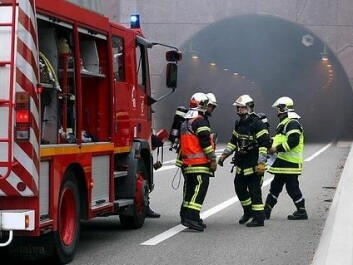 Firefighters in the study revealed that they can be more scared of a traffic accident and cancer than running into a burning building. (Photo: Colourbox)