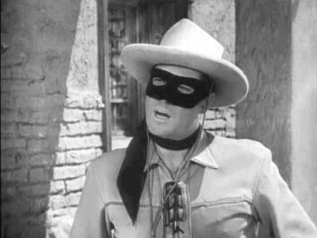Clayton Moore in the title role as The Lone Ranger in the 1949 TV series, which was one of the most popular series during what is considered the first golden age of TV series. (Photo:  Movie-Fan)