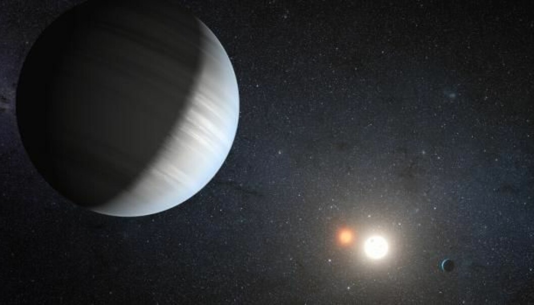 The discovery of Kepler-47 shows that binary stars can not only house single planets, but planetary systems too. (Photo: NASA/JPL-Caltech/T.Pyle)