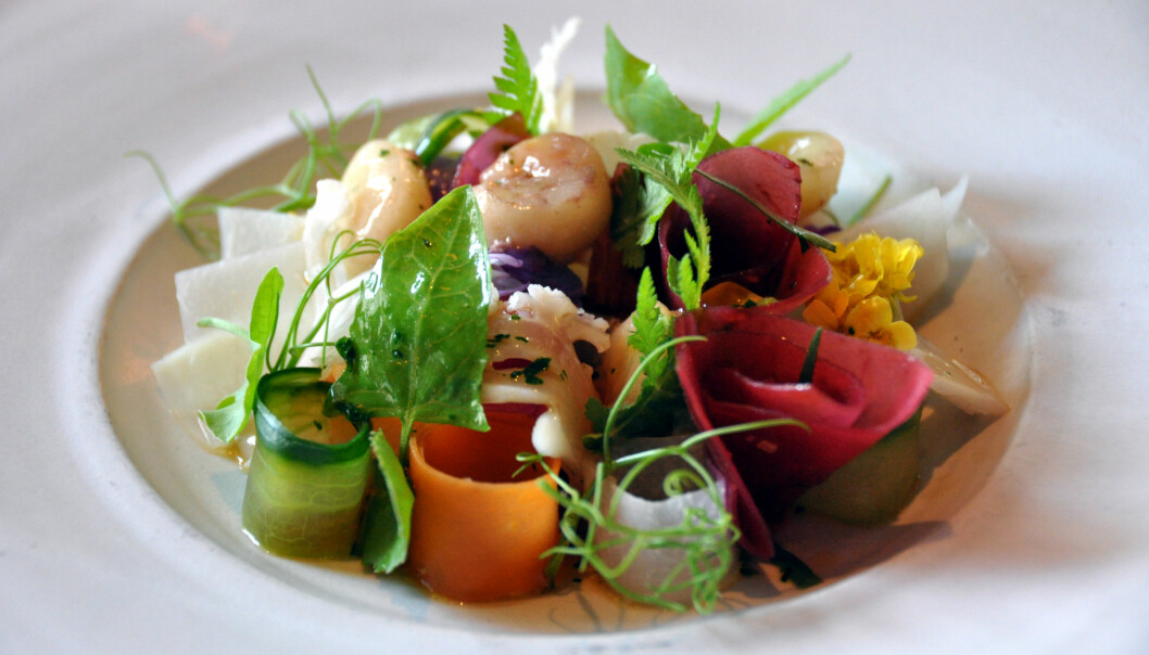 It doesn't need to be as fancy as this dish from Copenhagen's finest restaurant, Noma, but by sticking to the principles of the New Nordic Diet, you can do your part to help the environment. (Photo: Wikimedia commons, 'Multichill')