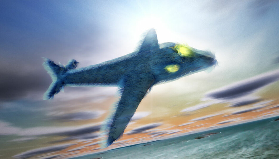 As the sun sets some day in the future a SAS Furliner P-390 glides majestically over the horizon and prepares for a smooth landing.  (Illustration: Per Byhring)