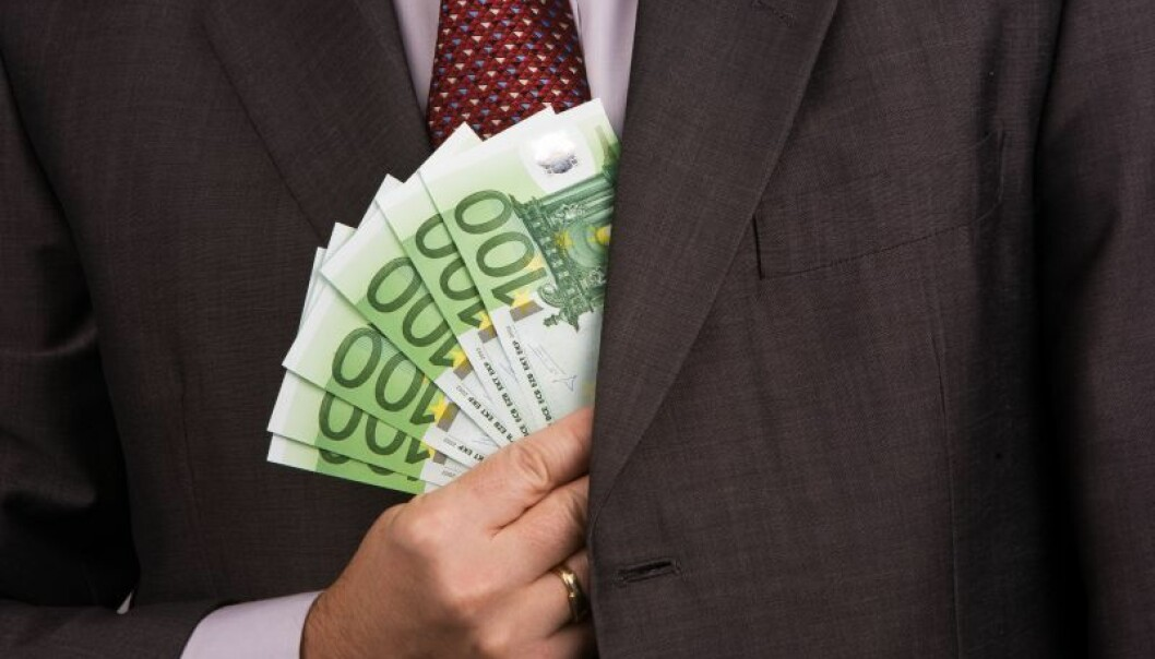 Corruption is to blame for the economic mess that the EU has landed itself in, according to a new study. Many southern European countries are so corrupt that people refuse to pay taxes to the state. The result is that these countries are on the verge of bankruptcy. (Photo: Colourbox)