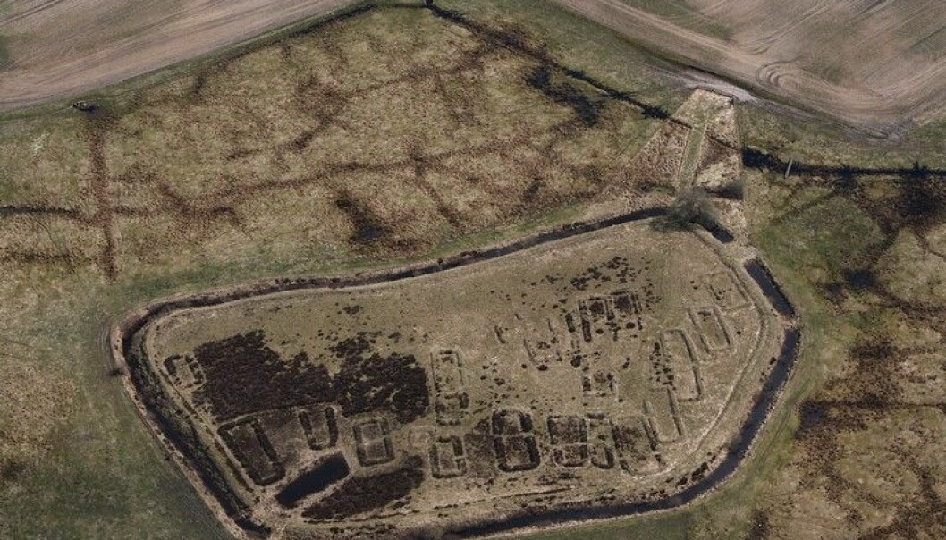 Vestiges of a fortified village on an islet in Borremose in Northeastern Jutland, Denmark. The village is thought to have been inhabited between 400 and 100 BC. A distinctive ring around the village shows that it has been well-shielded against enemies and animals. (Photo: Lie Helles Olesen, fortidensetfrahimlen.dk)