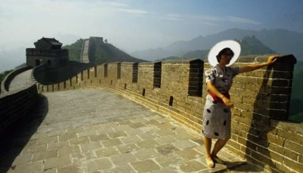 The Great Wall of China: a bulwark against democracy. New research shows that powerful states such as China have been good at resisting the Europeans – and thereby also the democratic ideals – out of the country. (Photo: Colourbox)