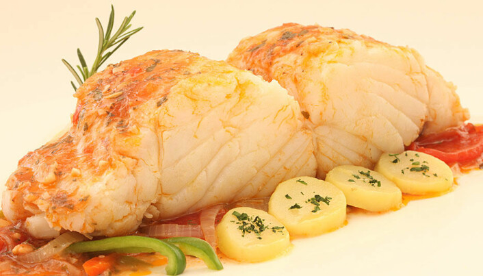 Christmas dining on Norwegian cod