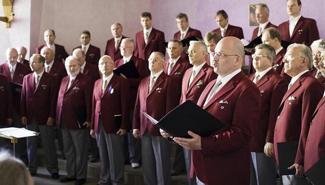 Men in male voice choirs prefer singing beautiful, gentle lullabies. (Illustration: Froggiewalker/Wikipedia commons)
