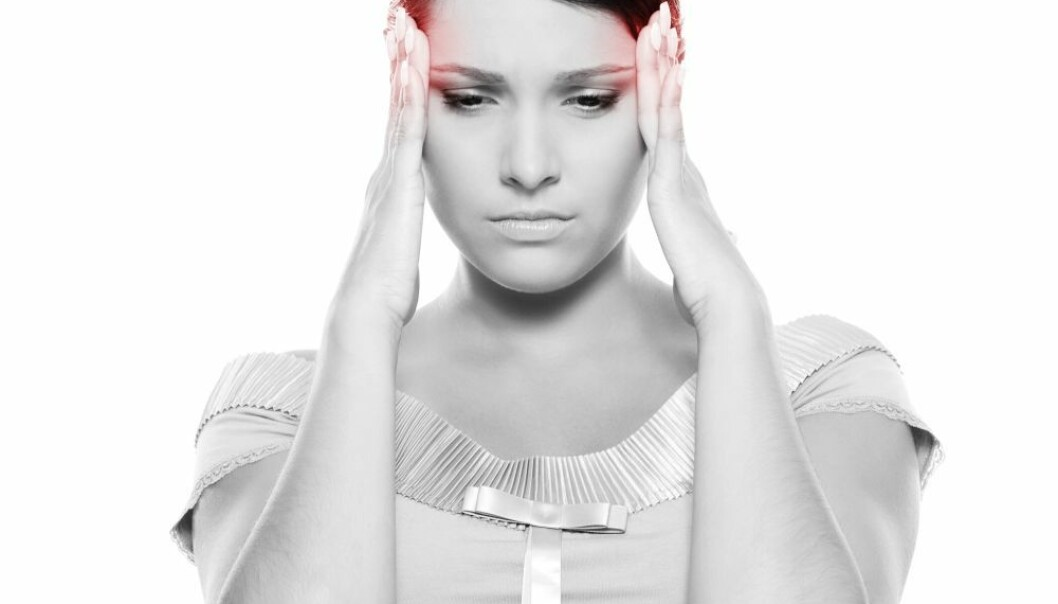 MRI scans of 19 women who had migraine attacks revealed that migraine pain is not caused by an expansion of the arteries on the outside of the skull, as previously thought. (Photo: Colourbox)