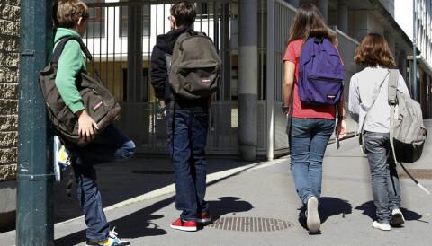 Poor kids help at home but hide at school