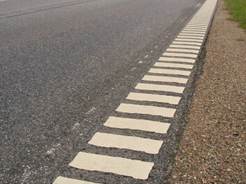 """Rumble strips can also be made from applications of paints or raised markers, such as """"cat eyes"""". (Photo: Lcl/Wikimedia Commons)"""