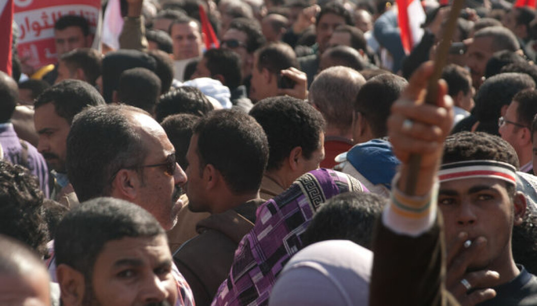 "The young volunteers played a big role during the 18-day revolt on Tahrir Square in 2011. Their role included handing out food and medicine to the demonstrators. (Photo: <a href="" http:// Mohamed Elsayyed / Shutterstock.com/"" target=""_blank"">Shutterstock</a>)"