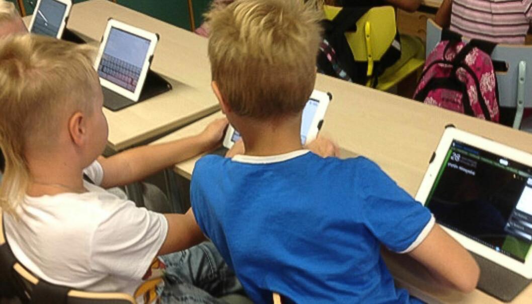 Second grade kids blog about school life. (Photo: Sanna Metsälä)