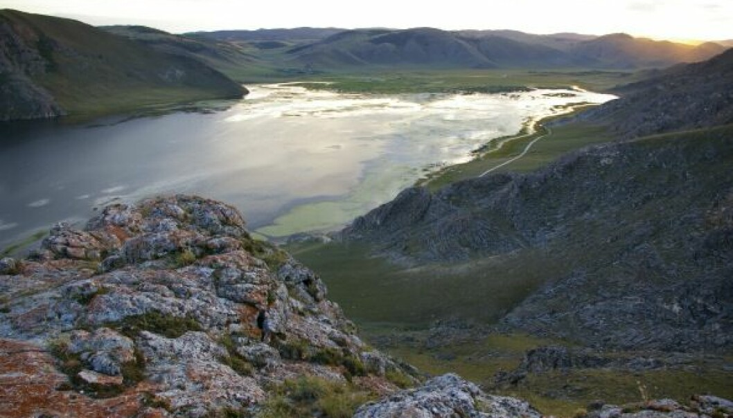 Lake Baikal in south-central Siberia, where the village of Mal'ta is situated. The genome of the MA-1 revealed that an Upper Palaeolithic population from this region admixed with ancestors of present-day East Asians, giving rise to the First American gene pool. (Photo: Niobe Thompson)