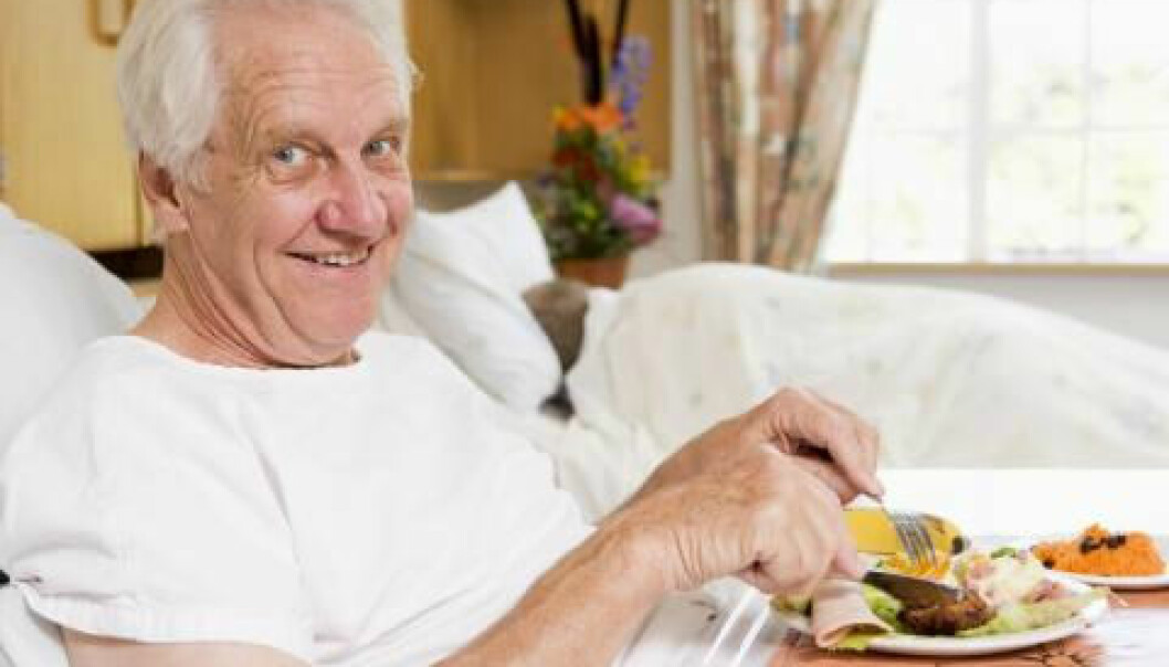 Hospital patients with a poor appetite say they are not hungry. However, when they are offered specific dishes, or when a patient meal host asks what they would like to eat, the patients' appetites appear to impove. (Photo: Colourbox)