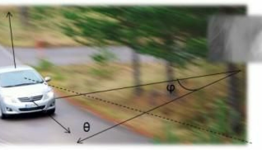 Where in a road curve do we focus our gaze when we turn our car? A Finnish researcher suggests that the prevailing theories on this subject are inadequate. (Photo: The University of Helsinki)
