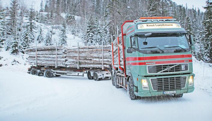 Larger logging trucks give less CO2 emissions
