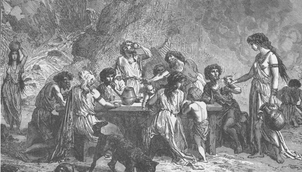 The discovery of traces of wine in an Old Nordic jar reveals that Nordic people drank wine as early as 1100 BC. The archaeologists behind the discovery believe that Nordic people may have received the wine through trading with central and southern Europeans. (Illustration: Robert Brown)