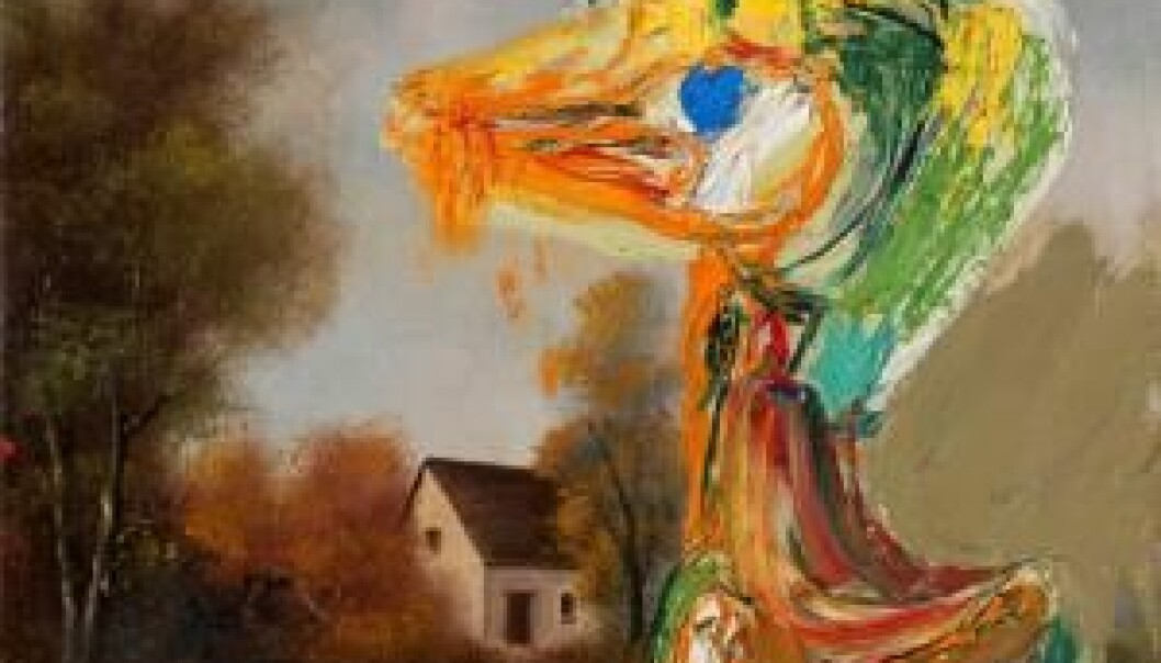 'The disquieting duckling' is one example of Asger Jorn's reworkings of old art, giving it a new critical meaning. (Photo: Museum Jorn/National Museum of Denmark)