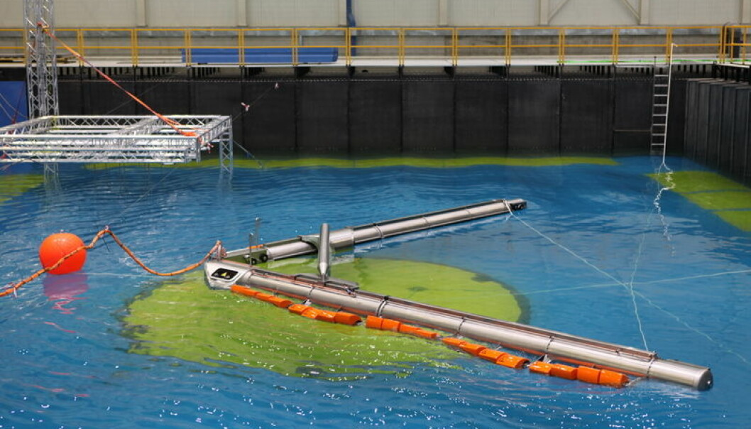 "In September, Weptos was tested in waves up to one meter high in a large tank in Santander, Spain. According to the researchers, the unit performed ""extraordinarily well"". (Photo. Weptos)"