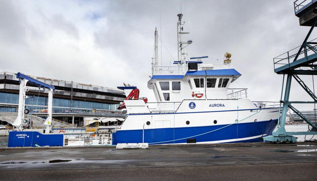 Aurora, the newest addition to the Danish research fleet, is a maritime technology wonder. (Photo: Torben Vang, Aarhus University)