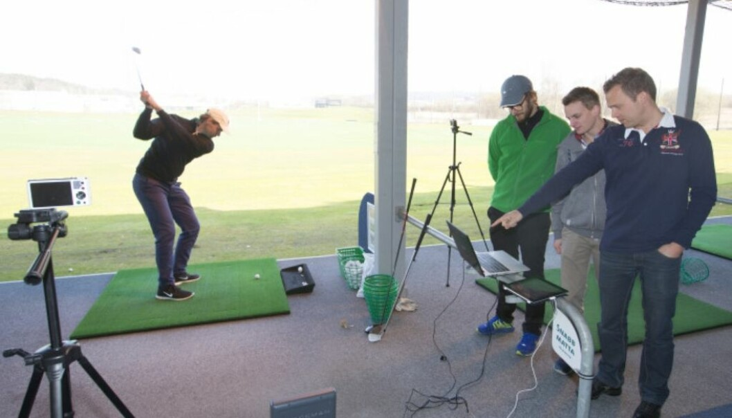 What are the elements of an optimal golf stroke? (Photo: University of Borås)