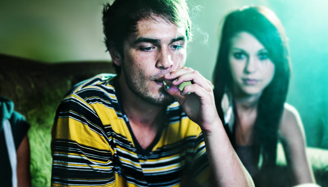 "Cannabis users are typically more violent than non-users but is cannabis the cause of the violence or is it something else? (Photo: <a href=""http://www.shutterstock.com/da/pic-156421958/stock-photo-smoking-a-joint-at-party.html?src=kbNYSJTIkehl4x4u7dXHhQ-1-131"" target=""_blank"">Shutterstock</a>)"