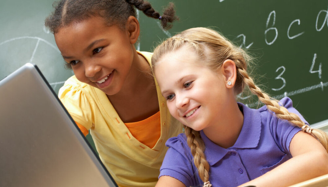 "Spoken language isn't just a bad version of its written counterpart, says researchers who hope to change this perception through a new online game. (Photo: <a href=""http://www.shutterstock.com/da/pic-58262833/stock-photo-portrait-of-two-schoolgirls-looking-at-the-laptop-during-lesson.html?src=vsT3FkMOYcBs0_iCDg3hIw-1-33"" target=""_blank"">Shutterstock</a>)"