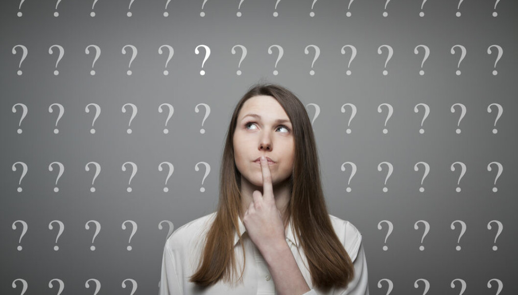 """Everyone can ask a good question -- but do we really know how we do it? (Photo: <a href=""""http://www.shutterstock.com/pic-136147787/stock-photo-girl-full-of-doubts-and-hesitation-girl-and-many-question-marks-above-head.html?src=csl_recent_image-1"""" target=""""_blank"""">Shutterstock</a>)"""