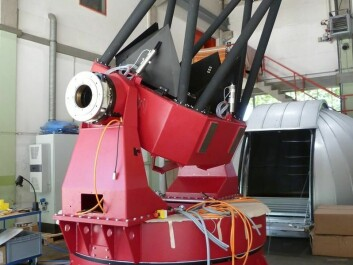 The first telescope in the series of eight which together will make up the global network. (Photo: song.phys.au.dk)