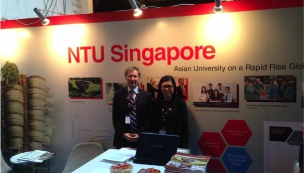 NTU Singapore's attended ESOF2014 because they find it important to share results with other scientists and researchers.