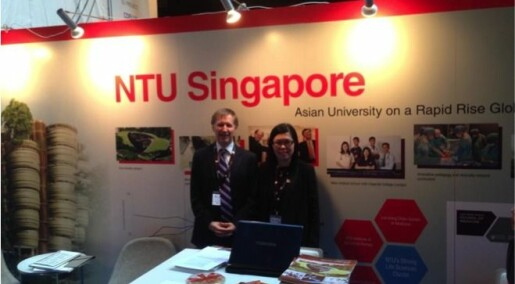 Universities recruit students from science conference