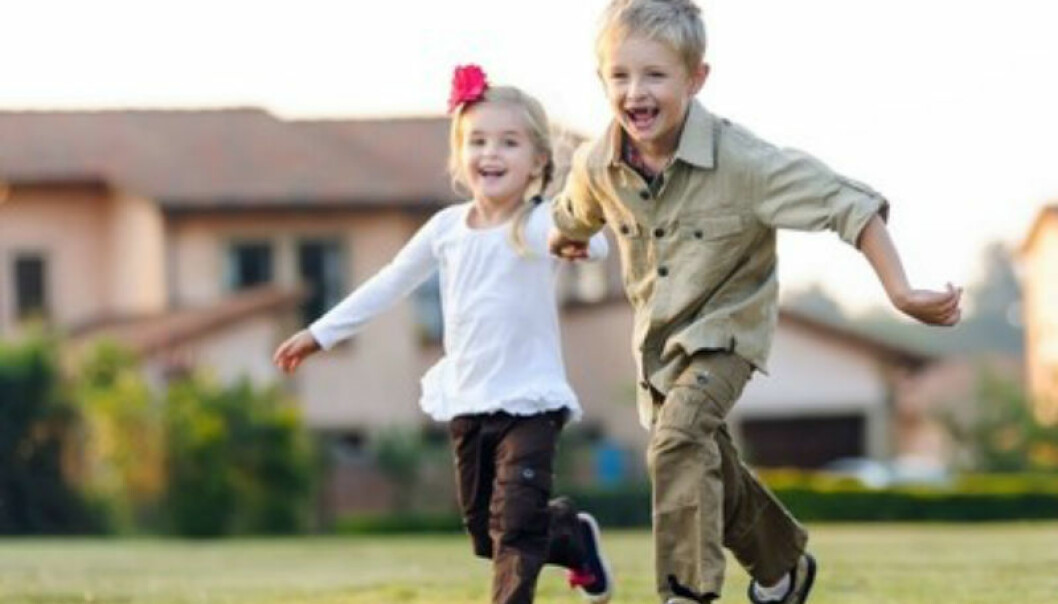 Siblings at play. Bipolar disorder first becomes evident in adulthood. (Illustrative photo: Microstock)