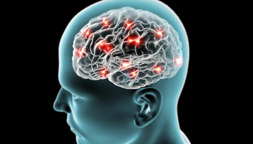 """Danish scientists are using computer models to simulate and learn about the progression of Parkinson's disease in the brain. (Photo: <a href=http://www.shutterstock.com/da/pic-159823838/stock-photo-brain-neurons-synapses-reasoning.html?src=DSD0ciCIungVT7W19LFAAg-1-8 target=""""_blank"""">Shutterstock</a>)"""