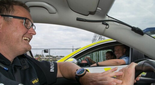 Laughter helps policemen cope with their work