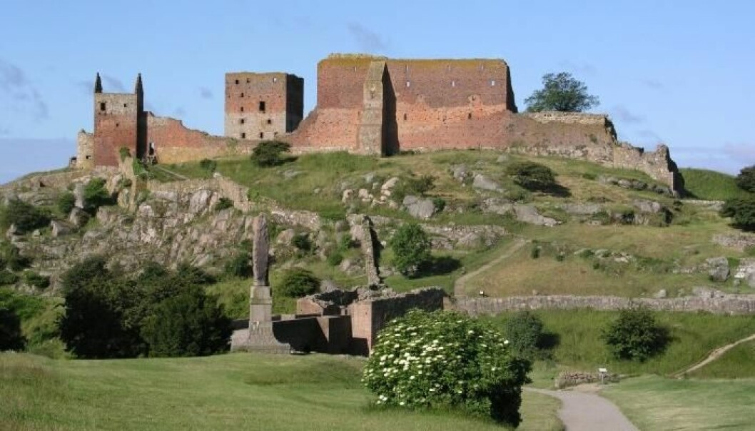 Researchers from The National Museum of Denmark are hoping to discover the origins of the famed medieval castle Hammershus. (Photo: National Museum of Denmark)