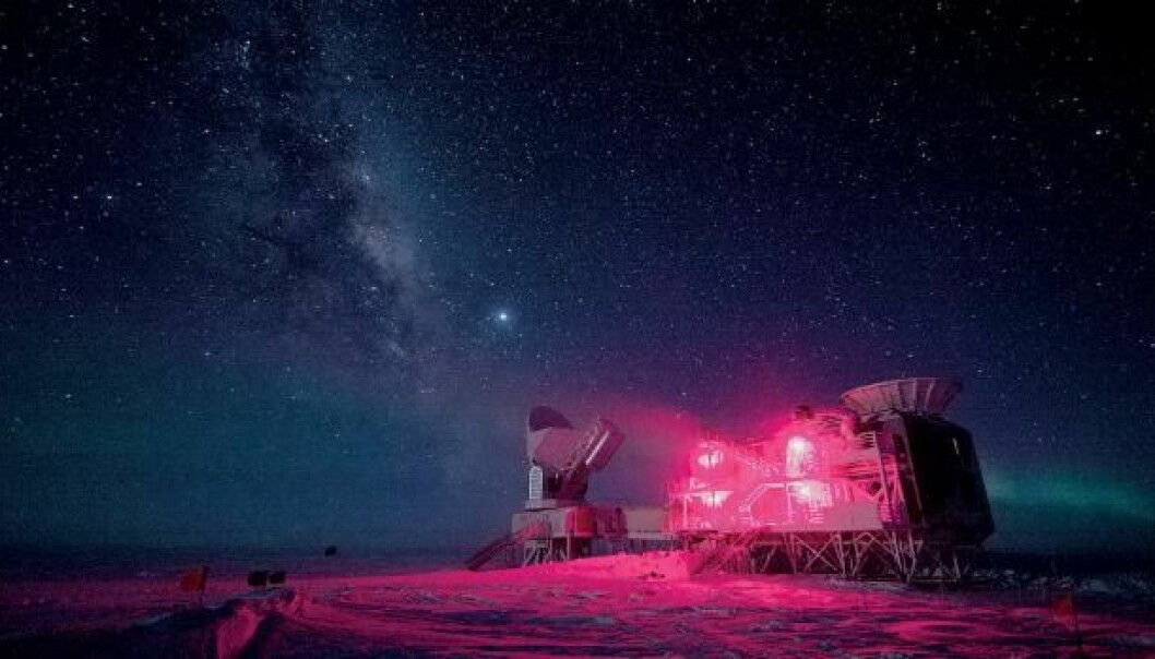 Earlier this year, using an advanced radio telescope at the South Pole the BICEP2 group measured signals they believed originated from the very creation of the universe. Now, however, new analyses from the European Planck satellite calls the results into question. (Photo: Keith Vanderlinde, National Science Foundation)