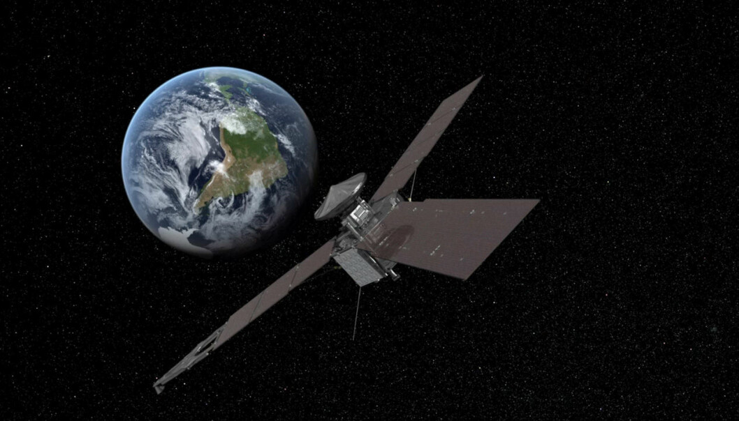 A Danish researcher has found a new way of determining where a spacecraft is in space. The method has been tested using data from NASA's Juno space probe (picture). (Illustration: NASA/JPL)