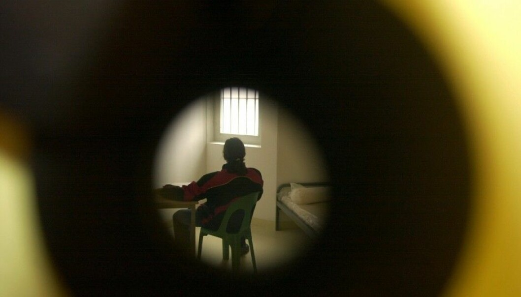 Imprisonment increases the risk of suicide by a factor of as much as 18. (Photo: Colourbox)