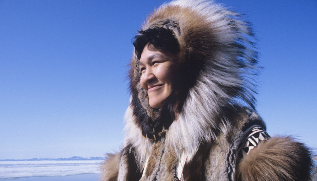 """The new study could also be relevant for studying the genetic history of other population groups that have ancestors from other peoples, for example populations in South America. (Photo: <a href=""""http://www.shutterstock.com/pic-145314475/stock-photo-smiling-eskimo-woman-wearing-traditional-clothing-in-wind-against-clear-blue-sky.html"""" target=""""_Blank"""">Shutterstock</a>)"""