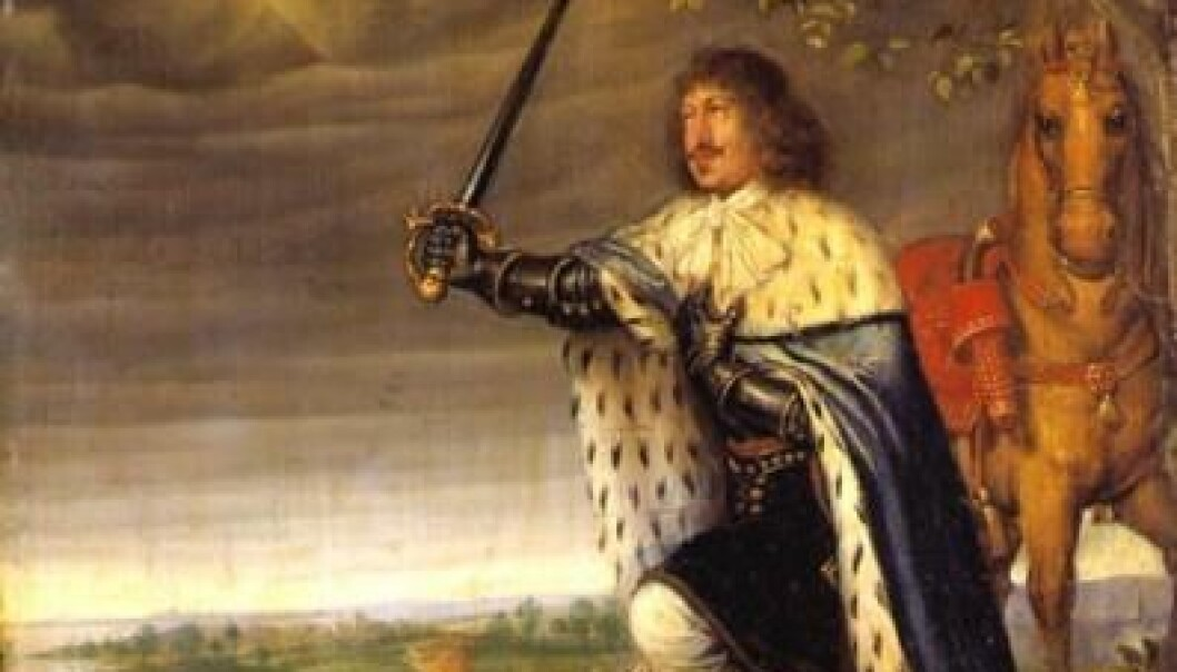 King Frederik III introduced the absolute monarchy in 1660. After this he and the monarchs who followed him made greater demands of their civil service. Civil servants were to be loyal and they were not allowed to be corrupt -- because this weakened the king's reputation and left less power and money to the Crown Prince. (Painting: Wolfgang Heimbach)