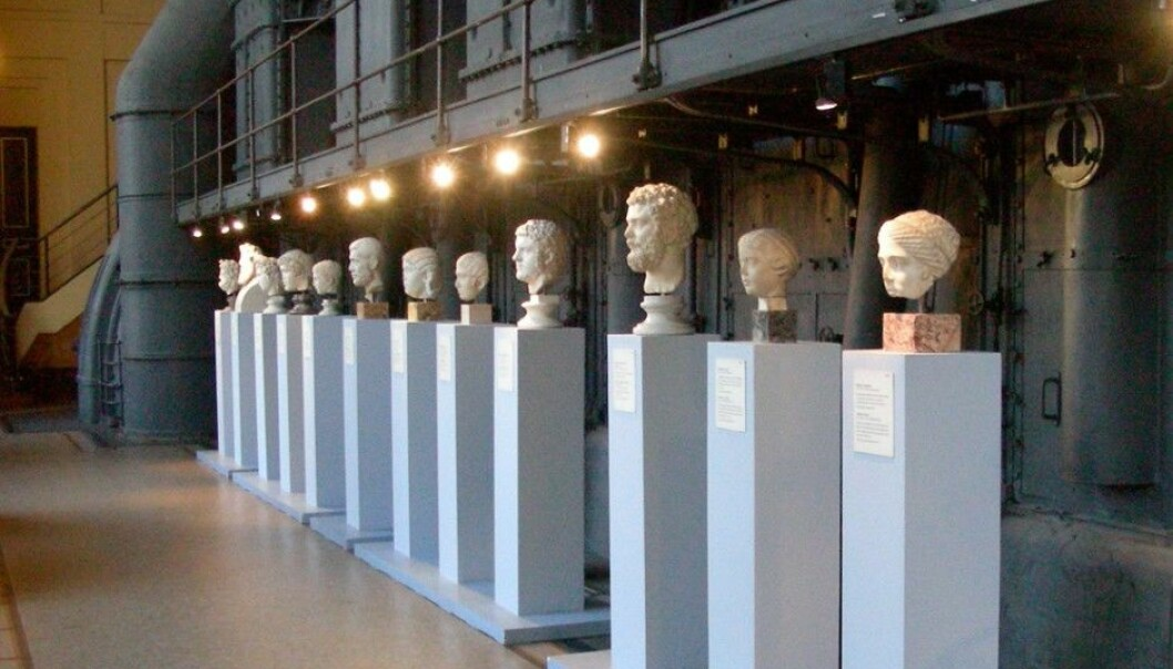 Classical Roman busts are exhibited in a former power plant at Rome's Musei Capitiolini Centrale Montemartini. (Photo: MM, Wikimedia Commons)