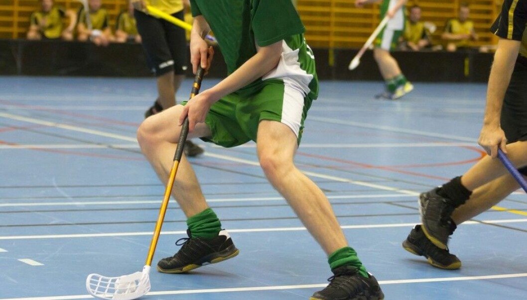 There are a lot of fast movements, turns and stops in floorball, and injuries come easy.  (Photo: Microstock)