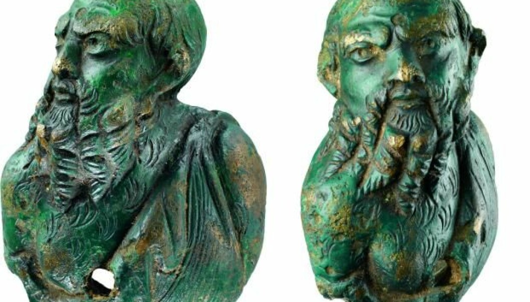 The 4.5 cm tall Roman bronze figure represents Silenus, a mythological creature based on the Greek figure of the same name. The bronze figure was found recently on the island of Falster and can be dated back to the late Roman Iron Age. It is unknown how the figure ended up on a Danish island. (Photos: National Museum of Denmark)
